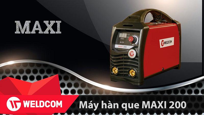 Máy Hàn Que Điện Tử Weldcom Maxi 200 Chính Hãng